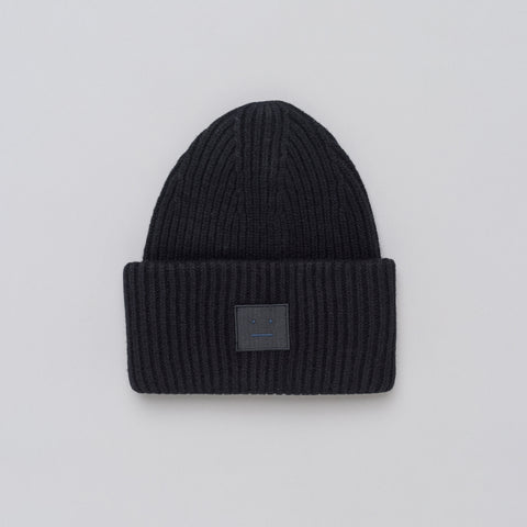 Acne Studios Pansy L Face Hat in Black - Notre