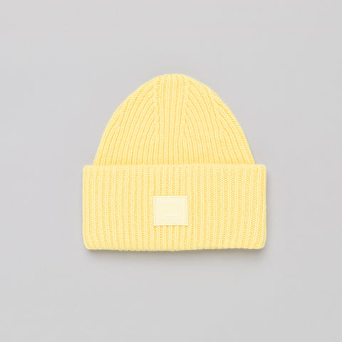 Acne Studios Pansy N Face Hat in Pale Yellow - Notre