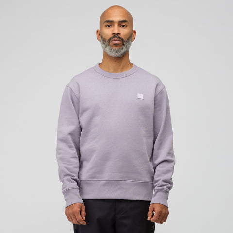 Acne Studios Fairview Face Sweatshirt in Mauve Purple - Notre