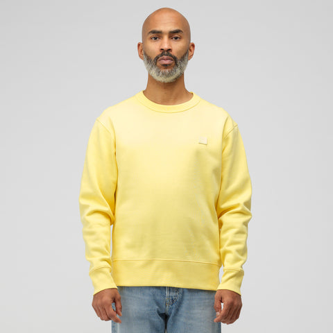 Acne Studios Fairview Face Sweatshirt in Pale Yellow - Notre