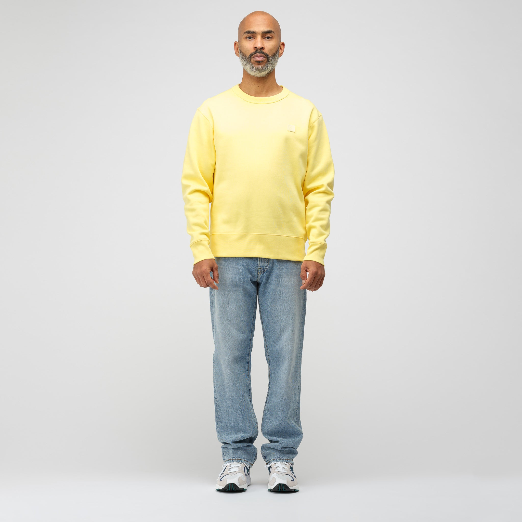 Fairview Face Sweatshirt in Pale Yellow