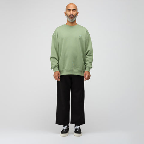 Acne Studios Crewneck Sweatshirt in Dusty Green - Notre