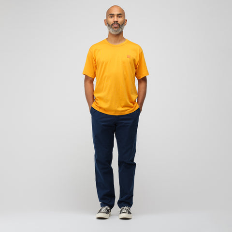 Acne Studios Nash Face T-Shirt in Sharp Orange - Notre