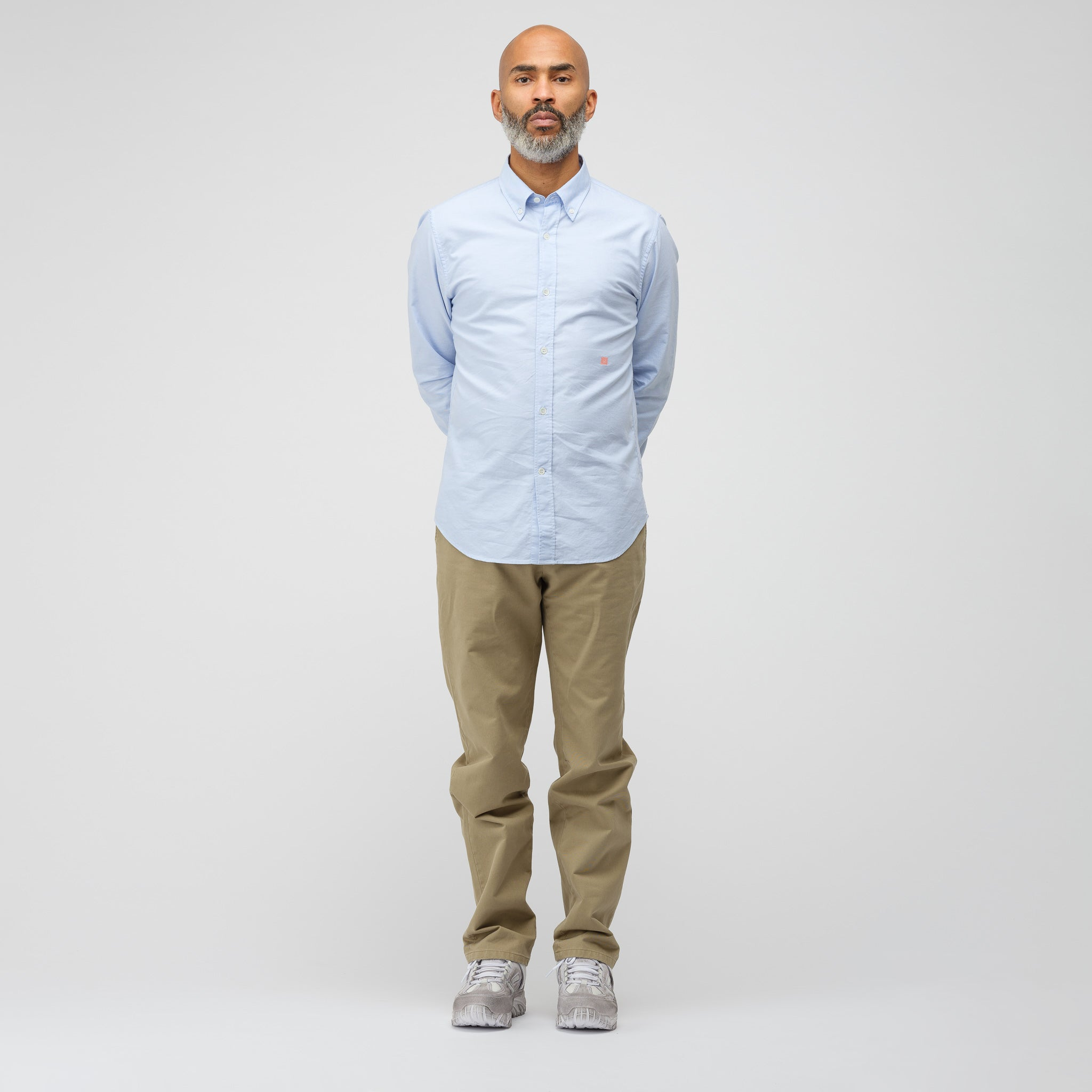 Ohio Face Button Down in Light Blue/Pink