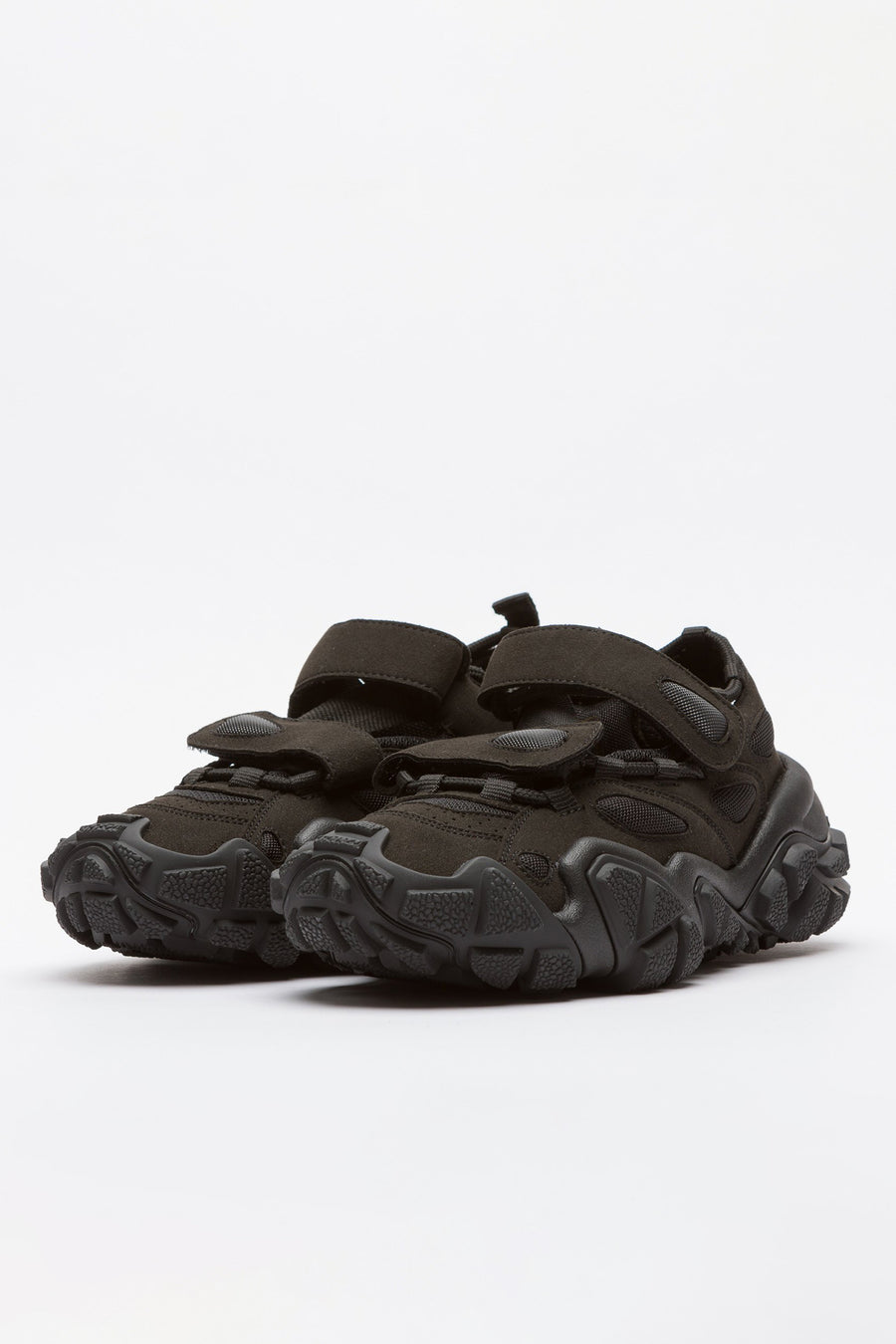 Acne Studios Bryz W Open Velcro Sneakers in Black - Notre