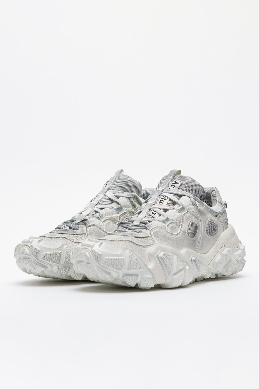 Acne Studios Boltzer W Tumbled Technical Sneakers in White - Notre
