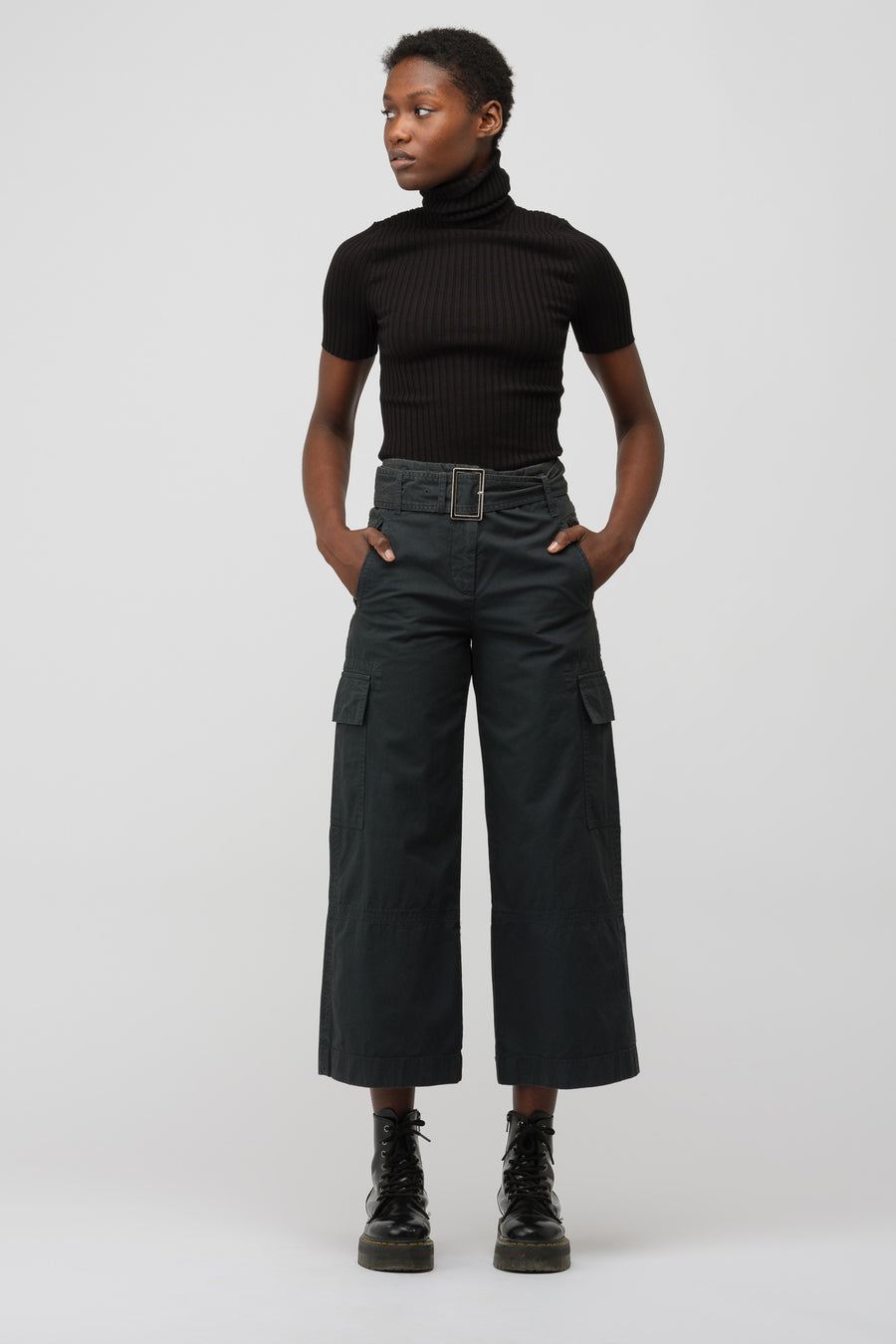 Acne Studios Cargo Pants in Anthracite Grey - Notre