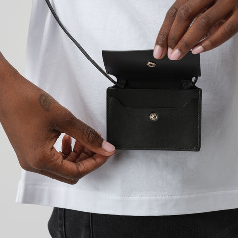 Acne Studios Coin Purse in Black - Notre