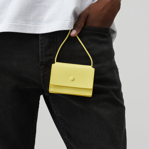 Acne Studios Coin Purse in Pale Yellow - Notre
