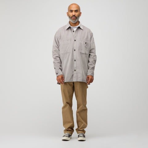 Acne Studios Sigurd Wide Corduroy Shirt in Light Grey - Notre