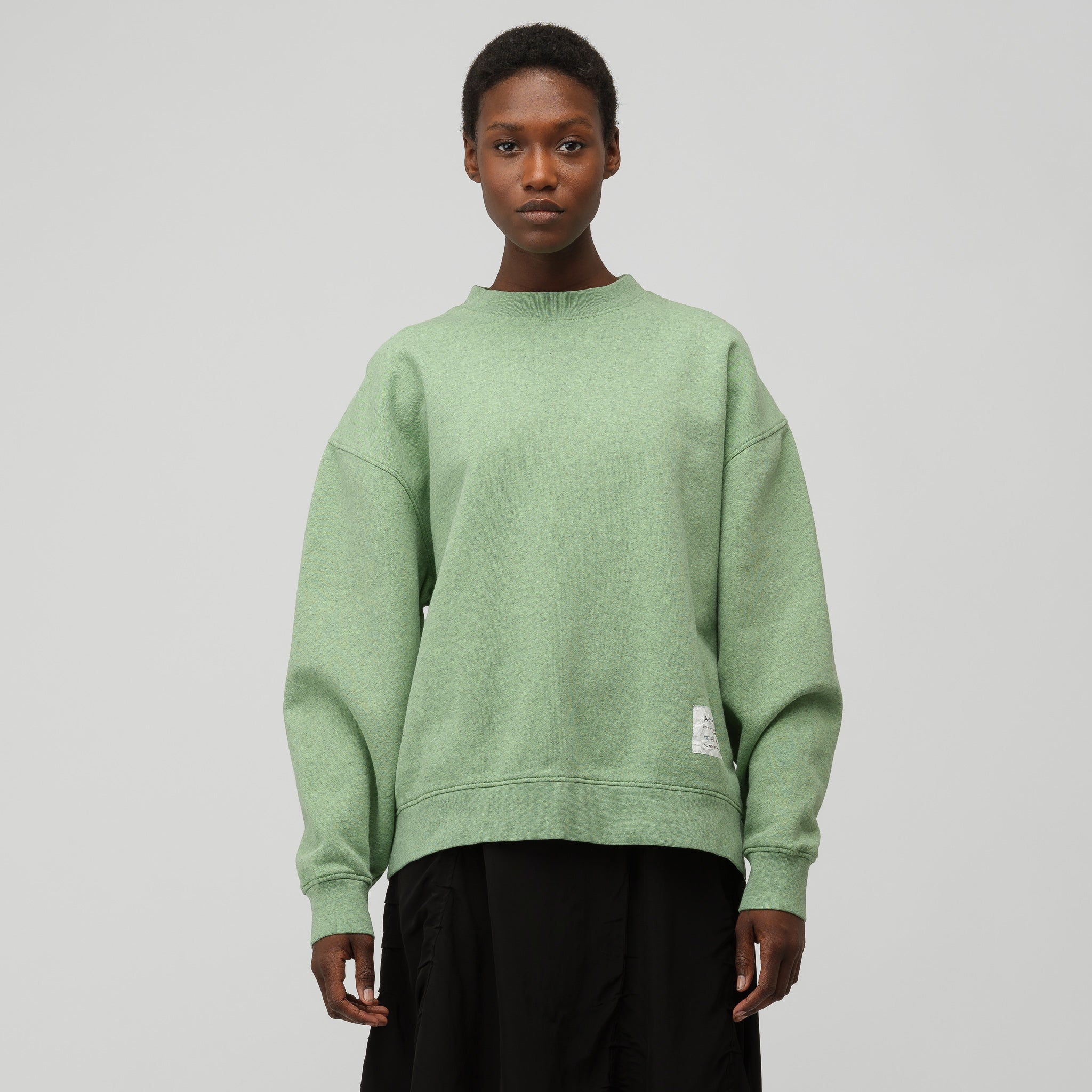 Crewneck Sweater in Green Melange