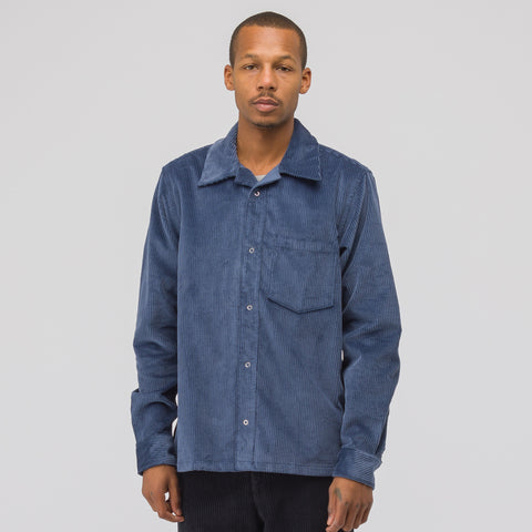 Acne Studios Denver New Corduroy Overshirt in Sky Blue - Notre