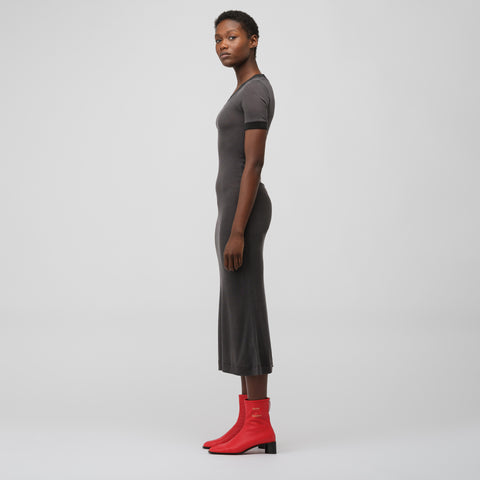 Acne Studios Elaine Laddering Rib Dress in Washed Black - Notre