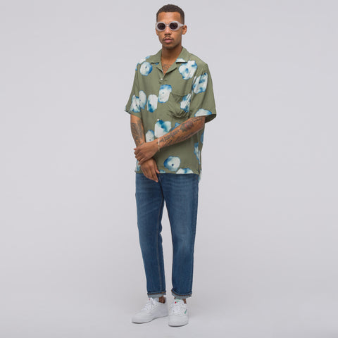 Acne Studios Elms Print Shirt in Chino Beige - Notre