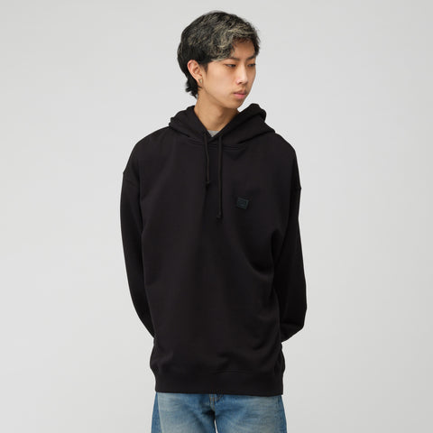 Acne Studios Face Hooded Sweatshirt in Black - Notre