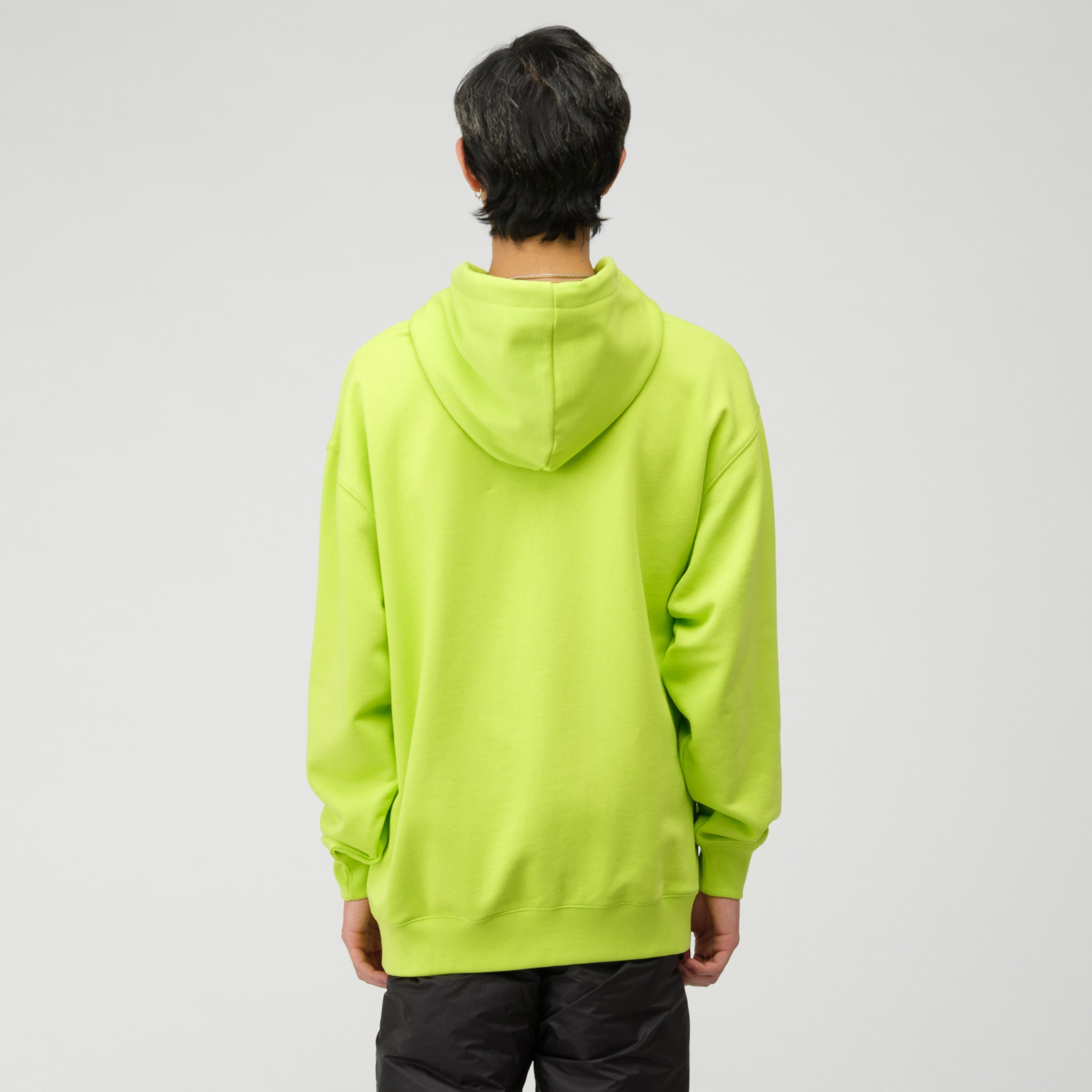 Face Hooded Sweatshirt in Lime Green