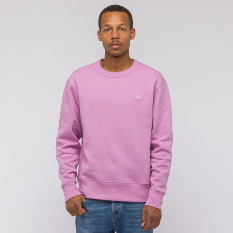 Acne Studios Fairview Face Sweatshirt in Lilac Purple - Notre