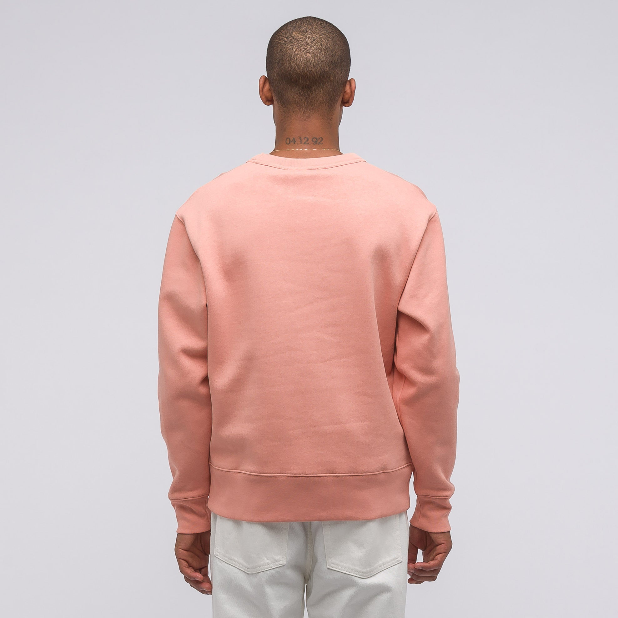Fairview Face Crewneck in Pale Pink