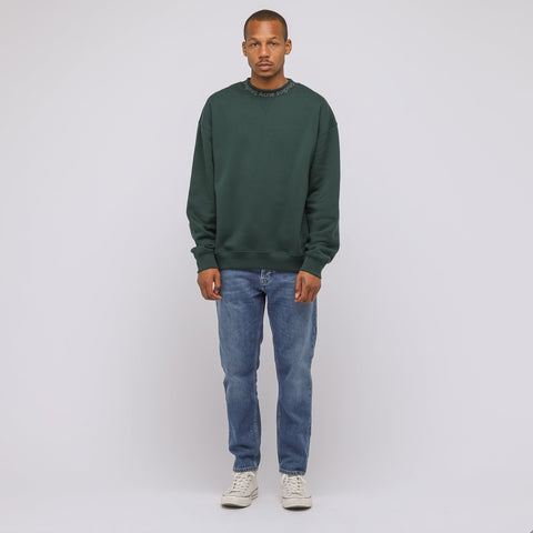 Acne Studios Flogho Crewneck Sweater in Forest Green - Notre