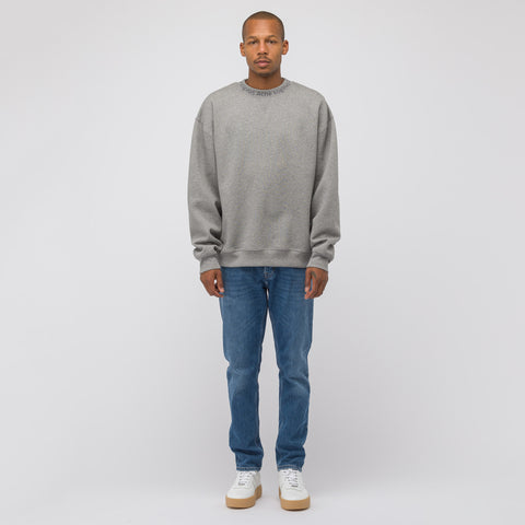 Acne Studios Flogho Crewneck Sweater in Light Grey Melange - Notre