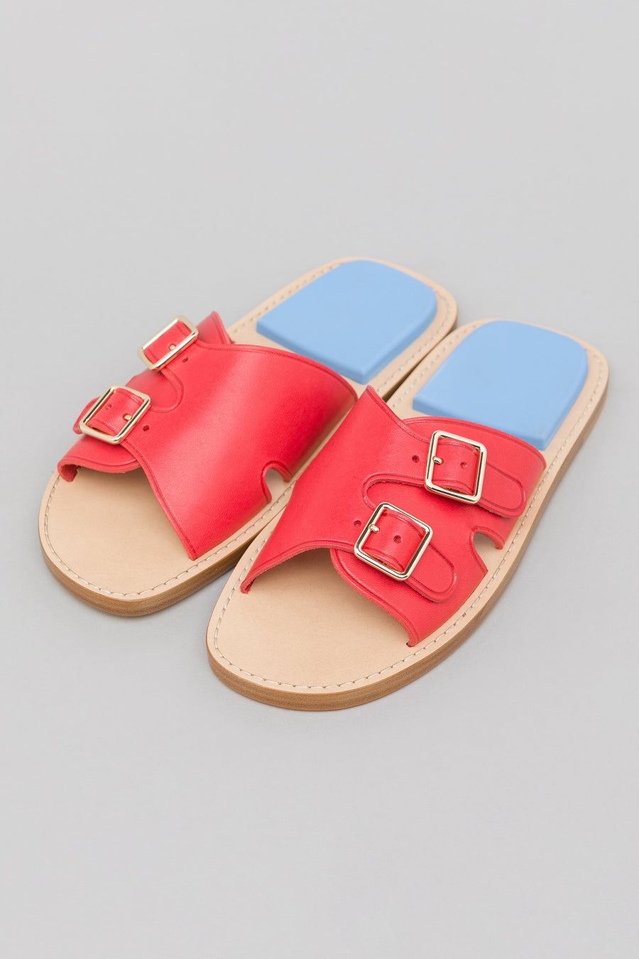 Acne Studios Bibbi Slide in Red/Blue - Notre