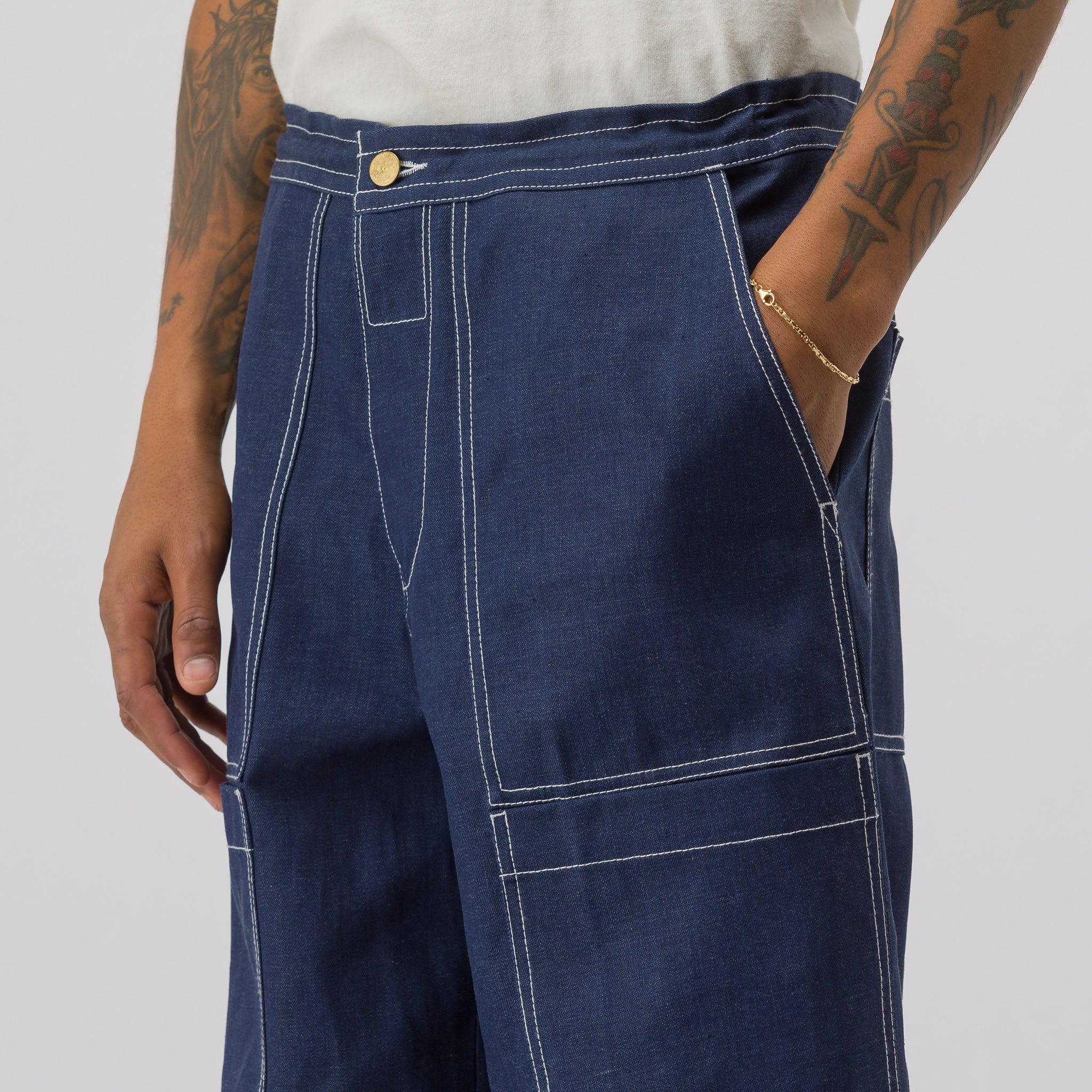 Hill D Pant in Indigo