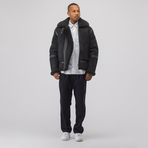 Acne Studios Ian Suede Jacket in Anthracite Grey - Notre