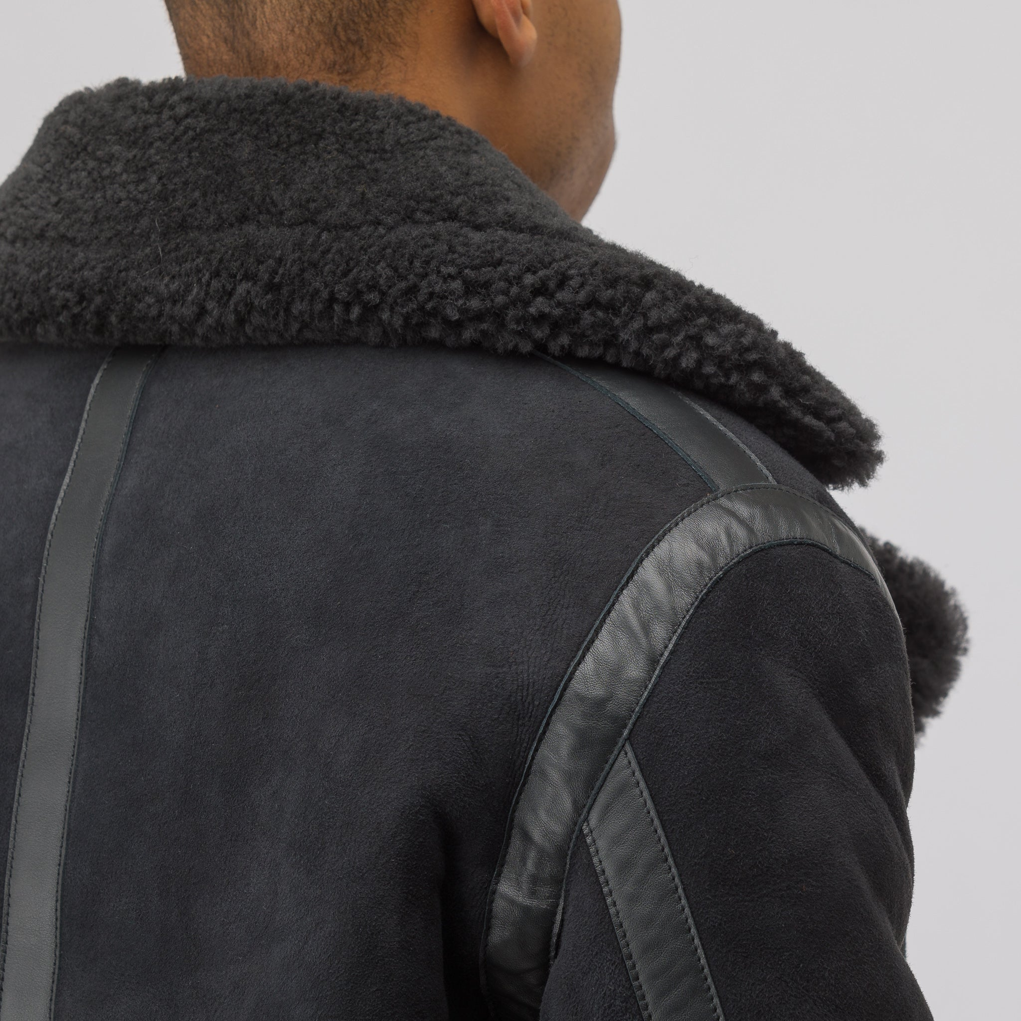 Ian Suede Jacket in Anthracite Grey