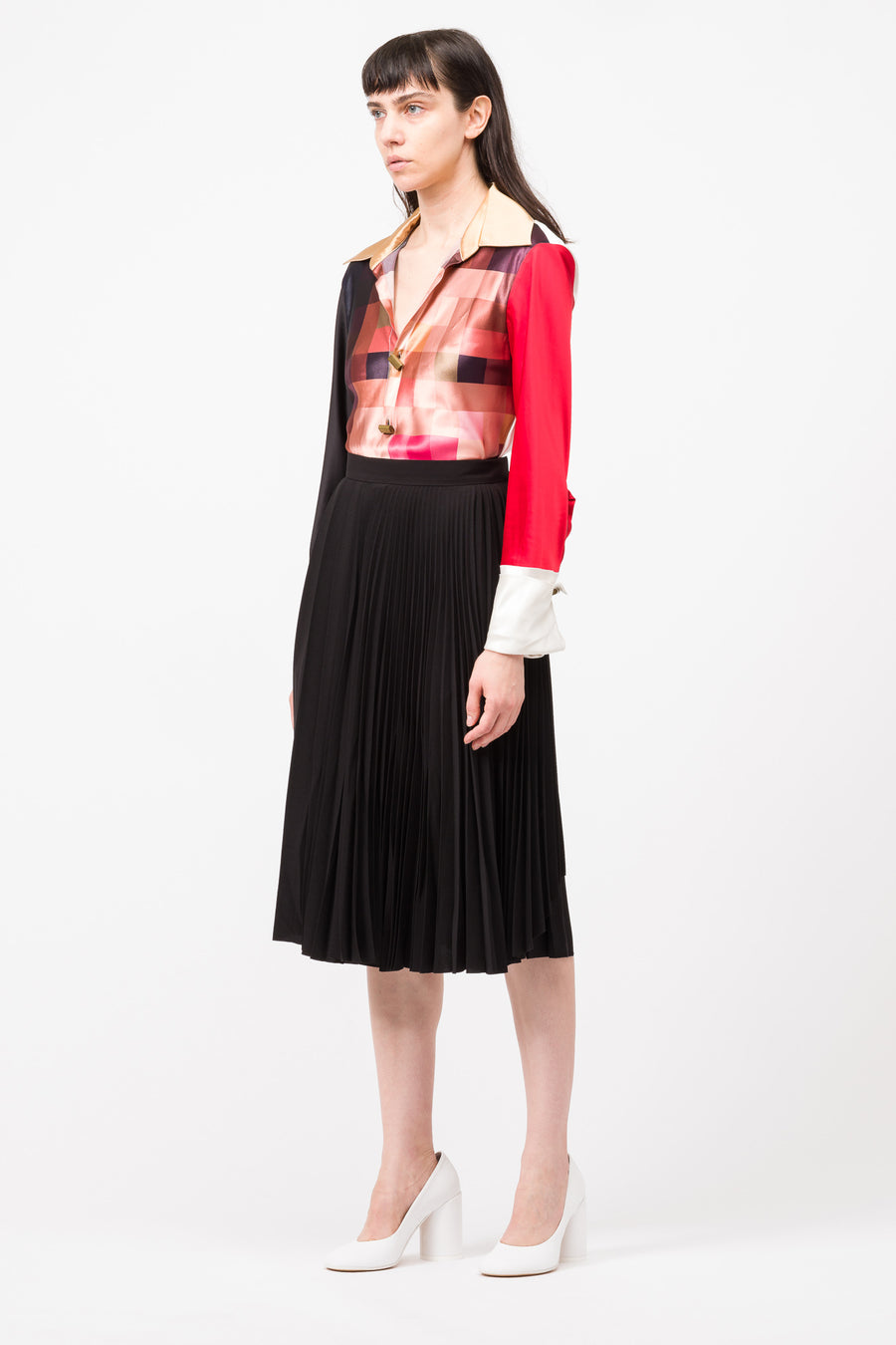 Acne Studios Ilky Flu Poly Skirt in Black - Notre