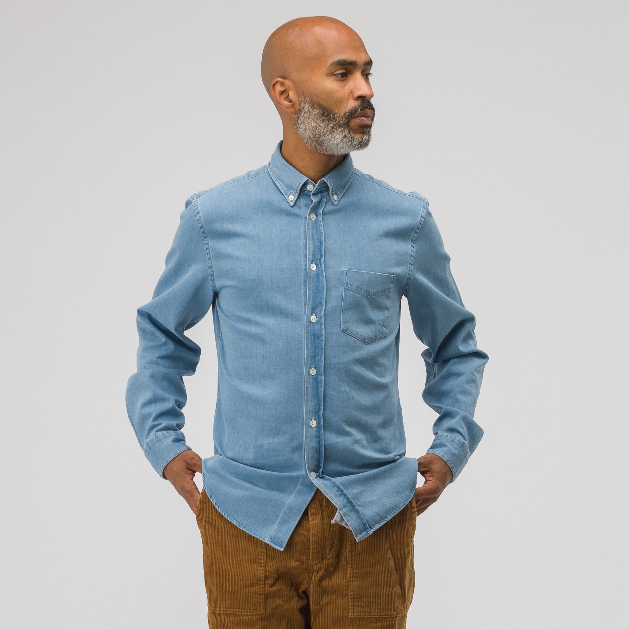 d247d4b728 ... Others From Acne Studios. Isherwood Denim Shirt in Washed Indigo