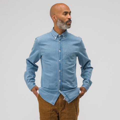 Acne Studios Isherwood Denim Shirt in Washed Indigo - Notre