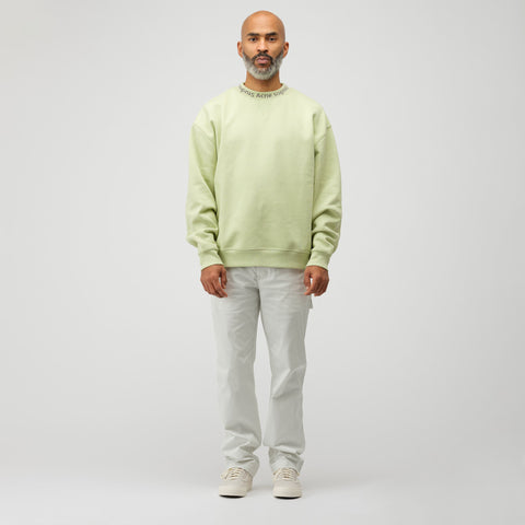 Acne Studios Flogho Crewneck Sweatshirt in Pale Green - Notre