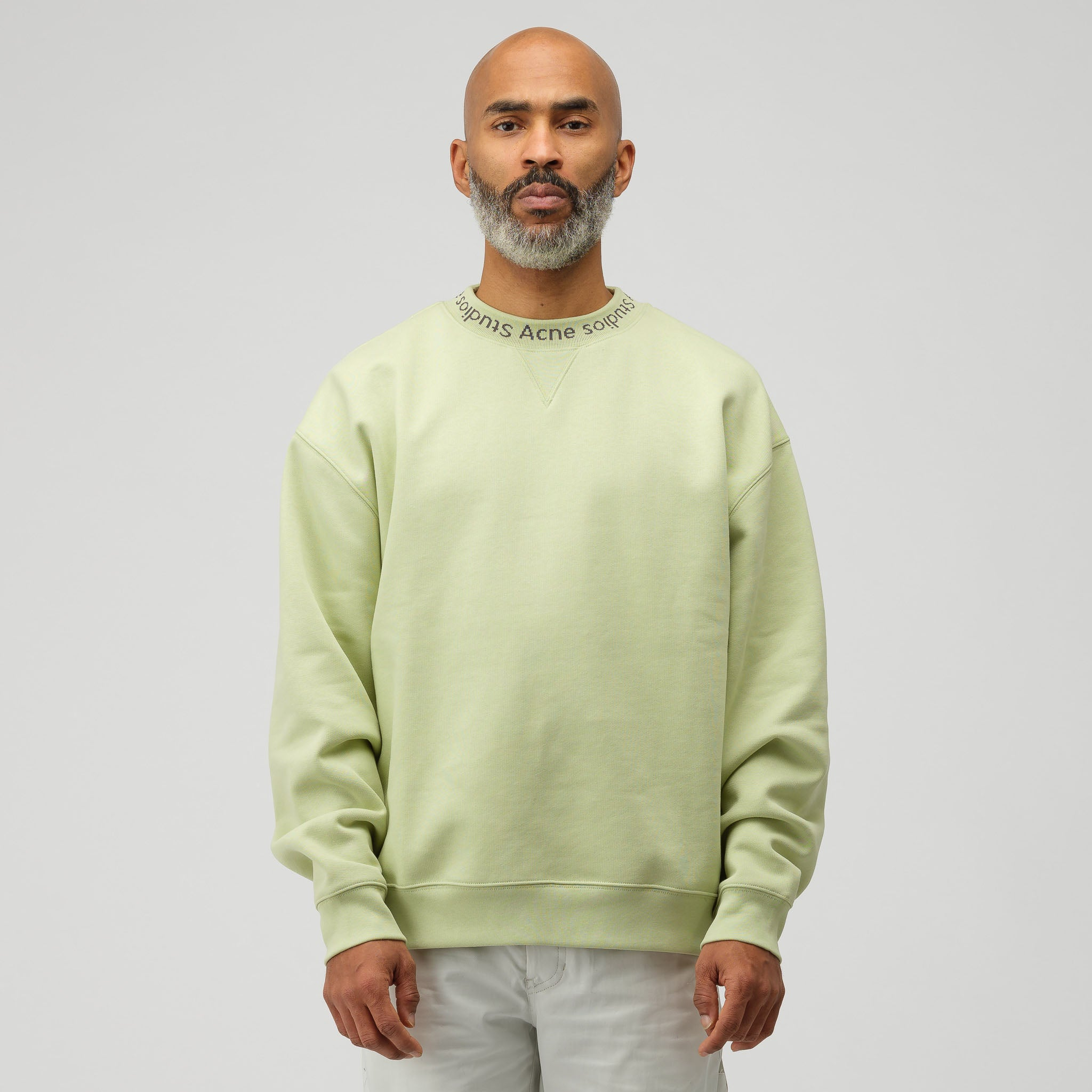 Flogho Crewneck Sweatshirt in Pale Green