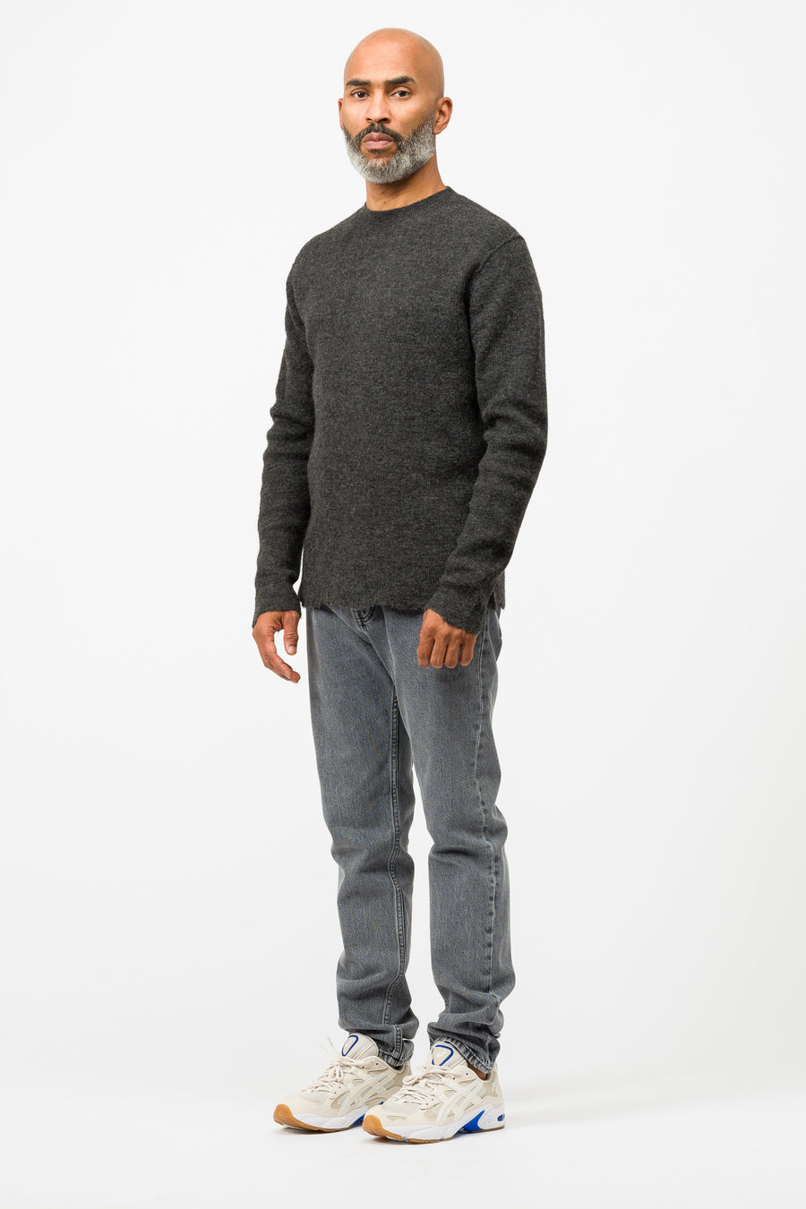 Acne Studios Kamden Wool in Medium Grey Mélange - Notre