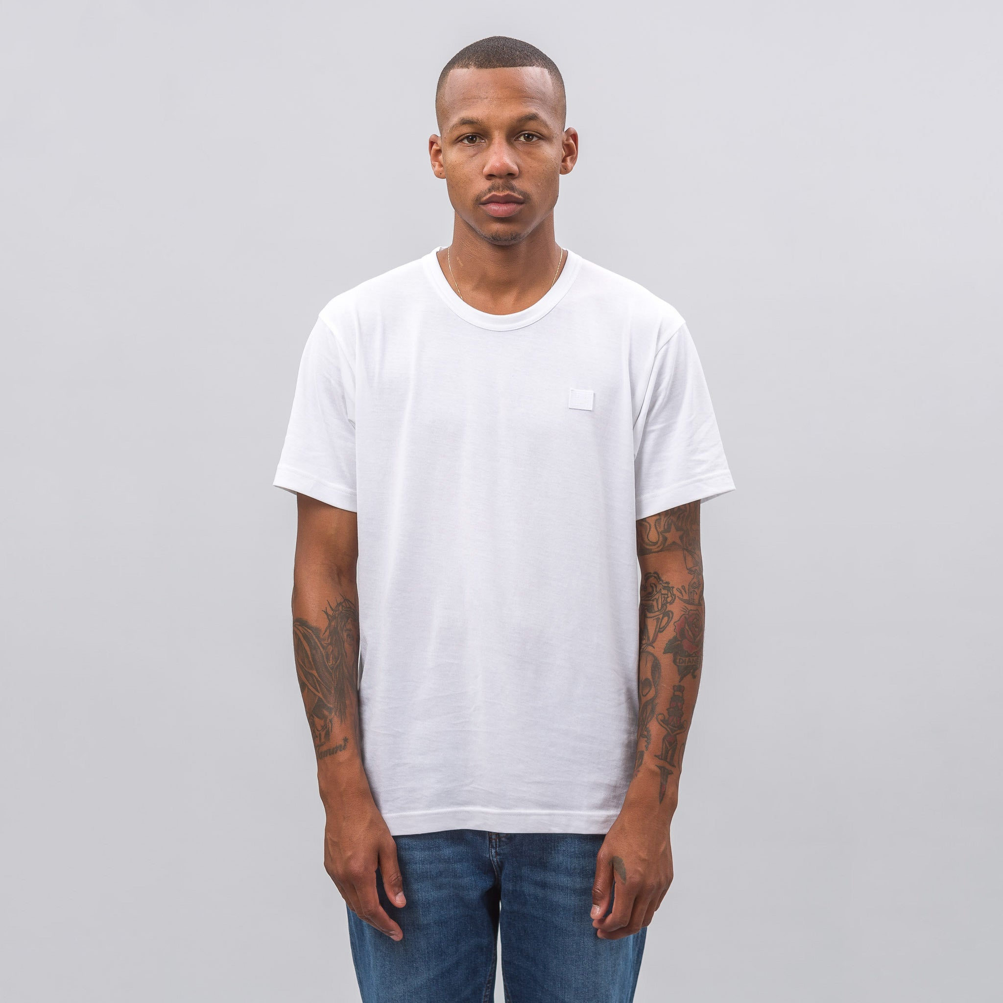 Nash Face T-Shirt in Optic White