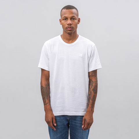 Acne Studios Nash Face T-Shirt in Optic White - Notre