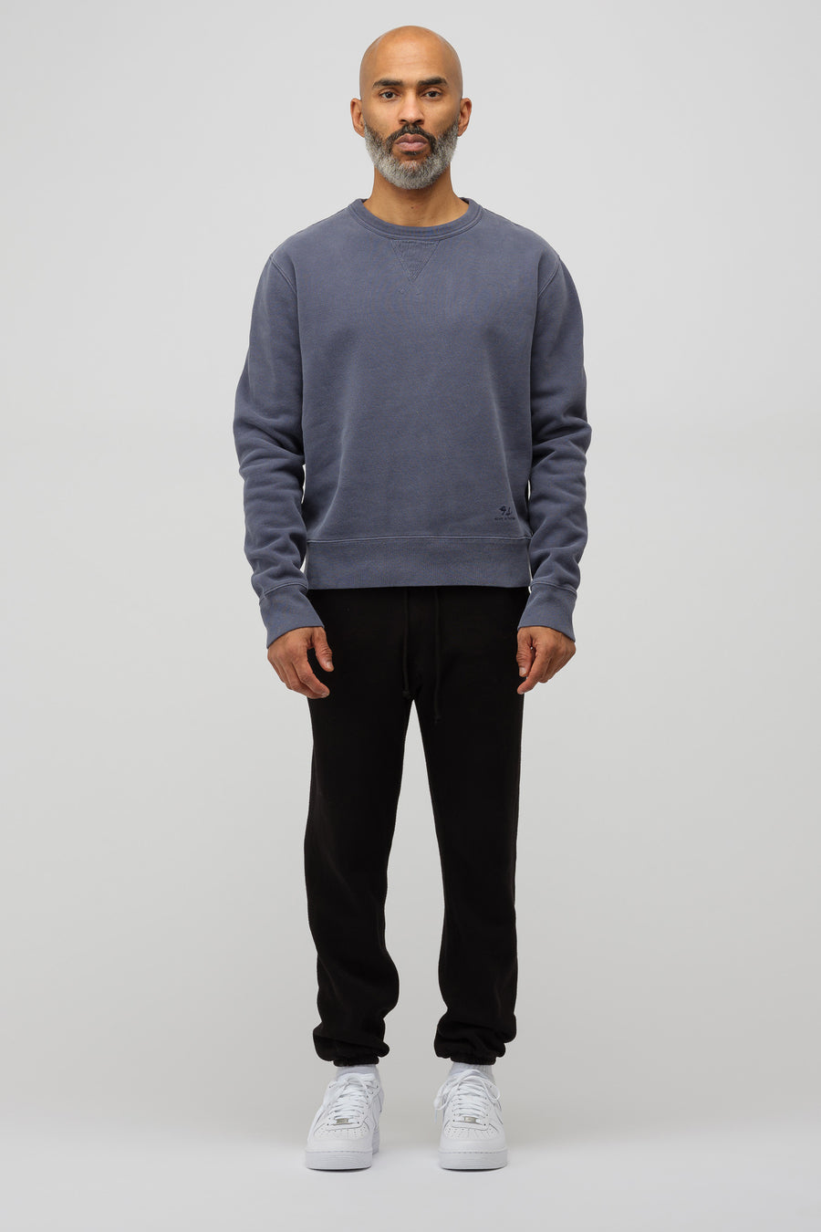 Acne Studios Fidal Embroidered Sweatshirt in Navy Blue - Notre