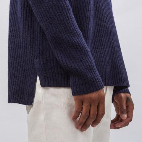 Acne Studios Nicholas Knit Crewneck Sweater in Navy - Notre