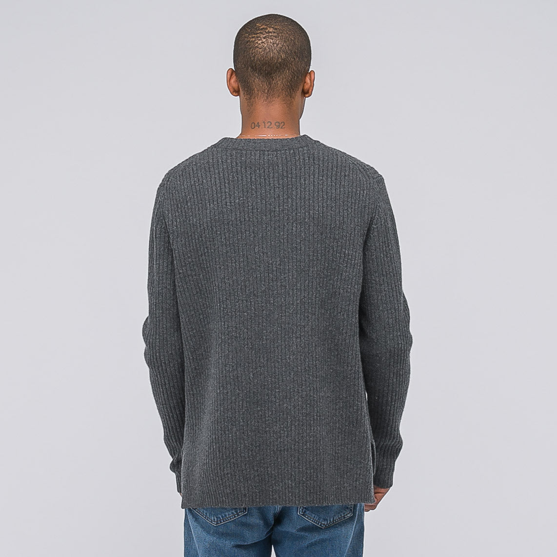 Nicholas Sweater in Charcoal Melange