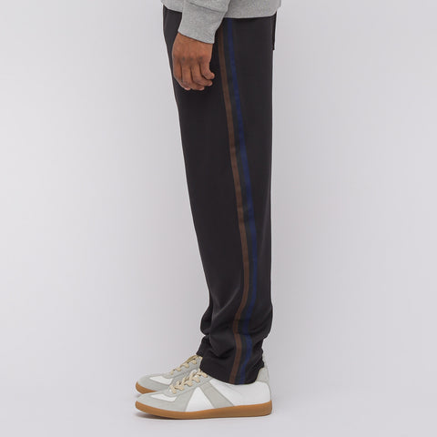 Acne Studios Norwich Face Track Pant in Black/Brown - Notre