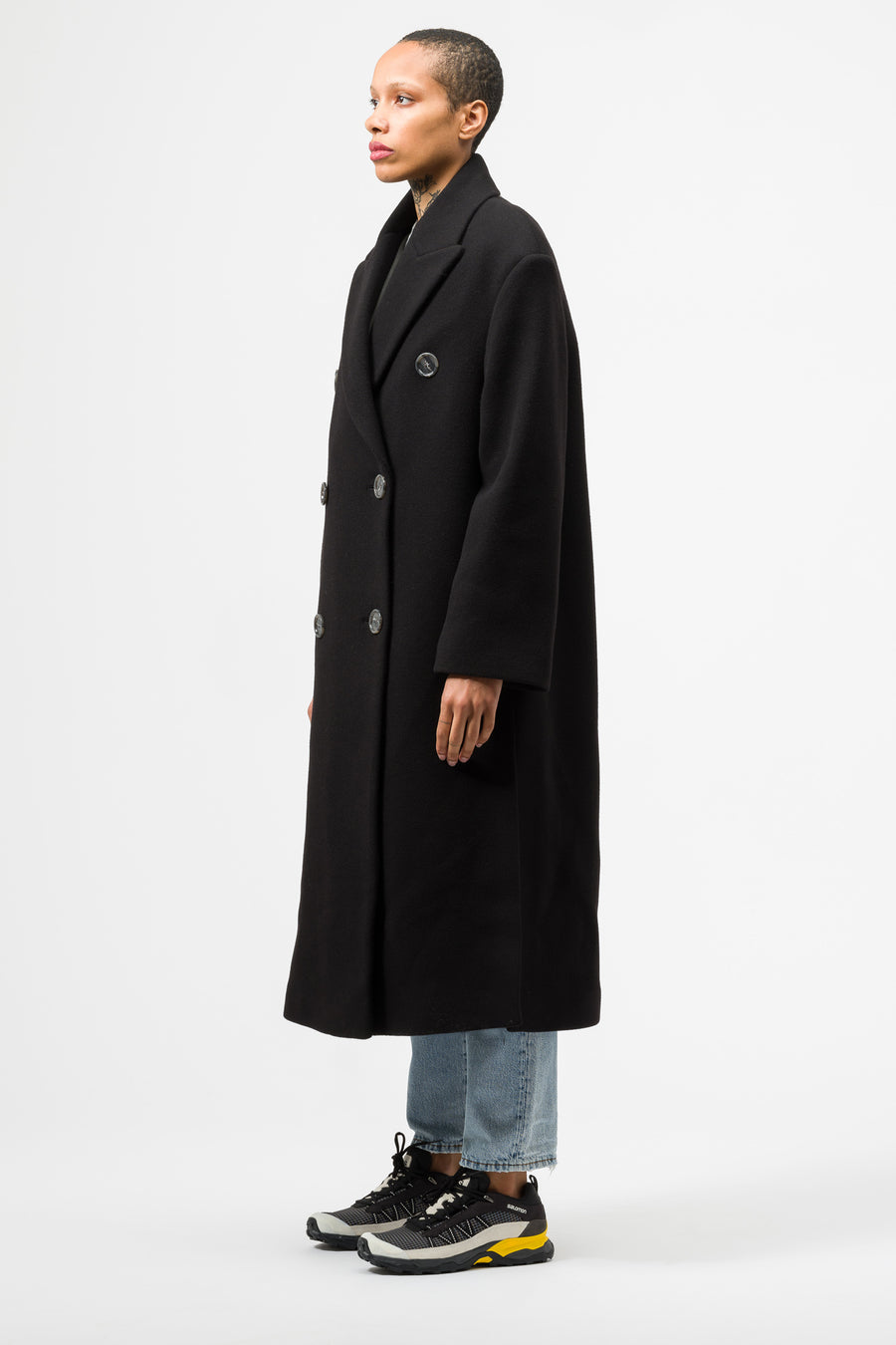 Acne Studios Octania Wool Coat in Black - Notre