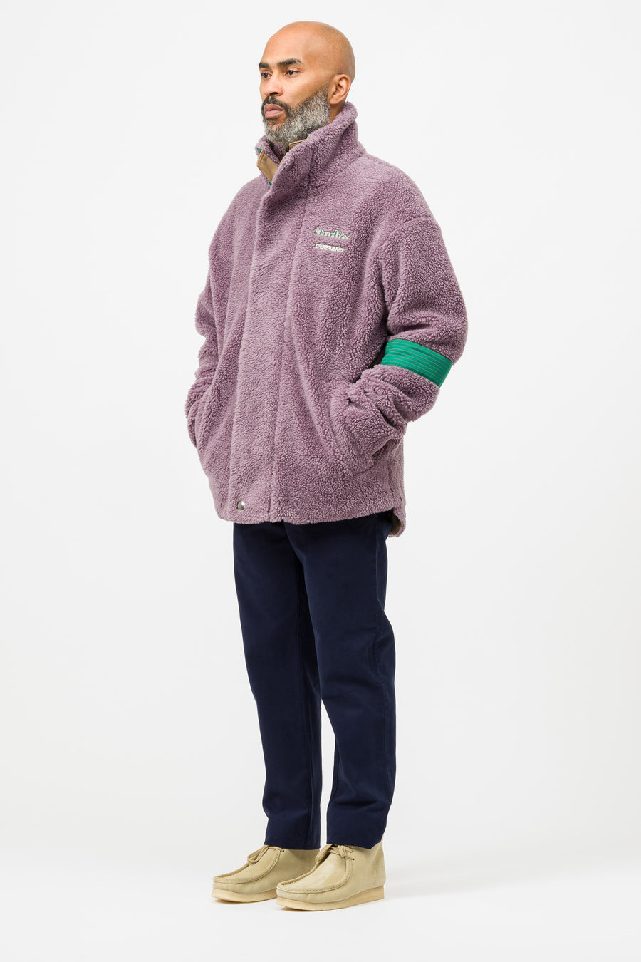Acne Studios Orsino Teddy in Lavender Purple - Notre