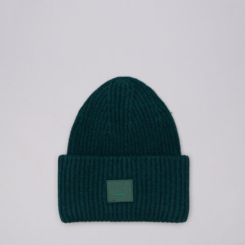 Acne Studios Pansy L Face Hat in Bottle Green - Notre