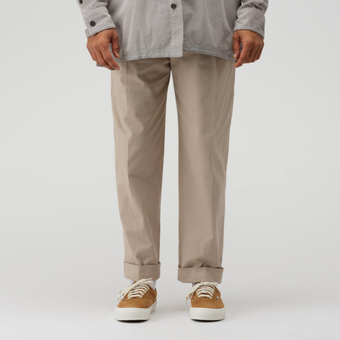 Acne Studios Garment Dye Trouser in Cold Beige - Notre
