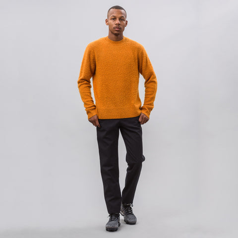 Acne Studios Peele Crewneck Sweater in Amber Orange - Notre