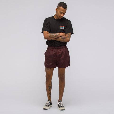 Acne Studios Perry Nylon Short in Deep Red - Notre