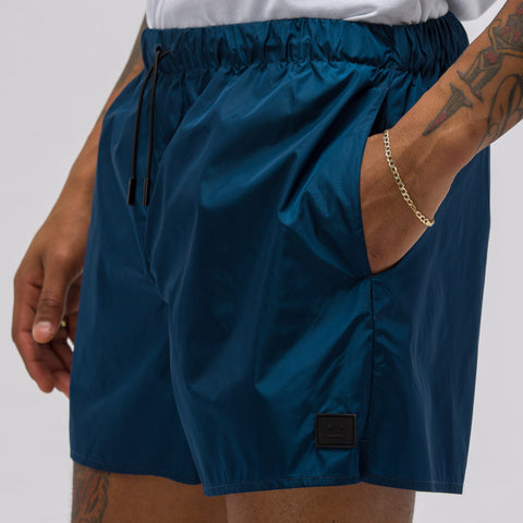 Acne Studios Perry Nylon Short in Teal - Notre
