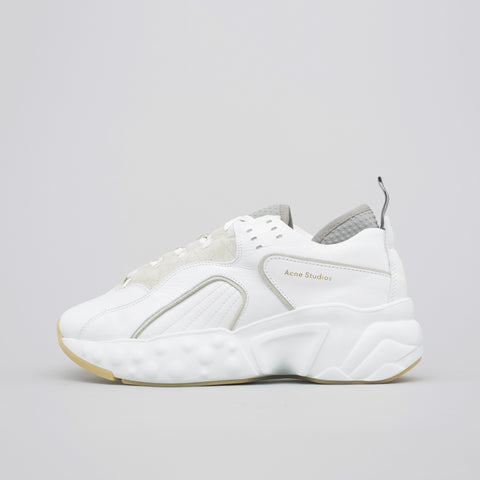 Acne Studios Rockaway Leather Sneaker in White - Notre
