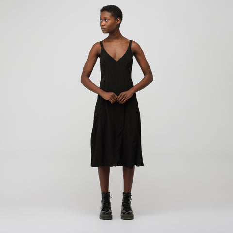 Acne Studios Slip Dress in Black - Notre