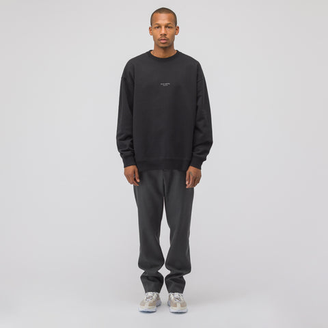 Acne Studios Garment Dyed Sweatshirt in Black - Notre